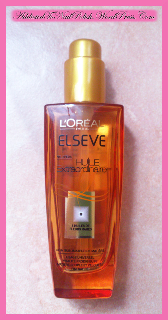 review l oreal huile extraordinaire hair oil addicted. Black Bedroom Furniture Sets. Home Design Ideas