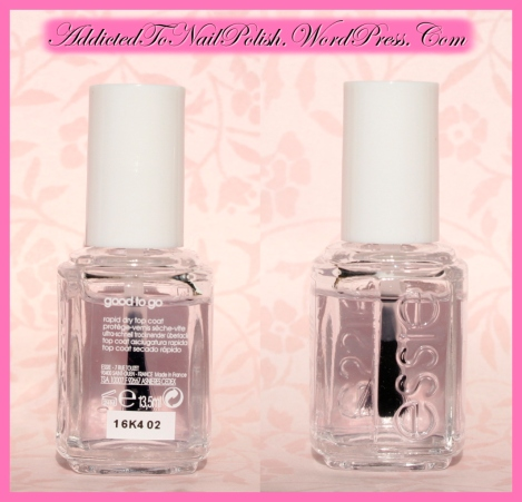 Manicure essentials: Essie Good to go! fast drying top coat review