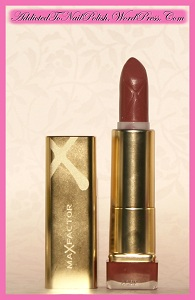 Review_MaxFactor_ColourElixirLipstick_833Rosewood_Mala